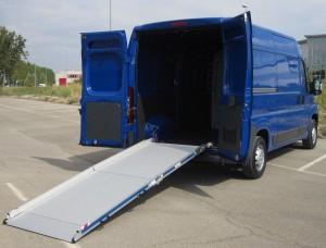 rampe de chargement en aluminium pour vehicule utilitaire