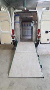 rampe de chargement en aluminium pour utilitaire pour entreprise electicité industrielle en charente