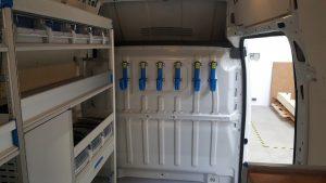 equipement pour utilitaire pour une entreprise d'élécricité en charente
